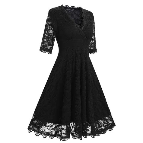 women sexy lace  sleeve party cocktail wedding