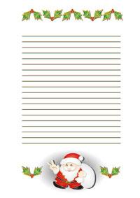 クリスマス 便箋封筒サンタクロース