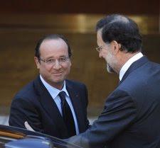 El presidente de Francia, Francois Hollande, junto al presidente del Gobierno es