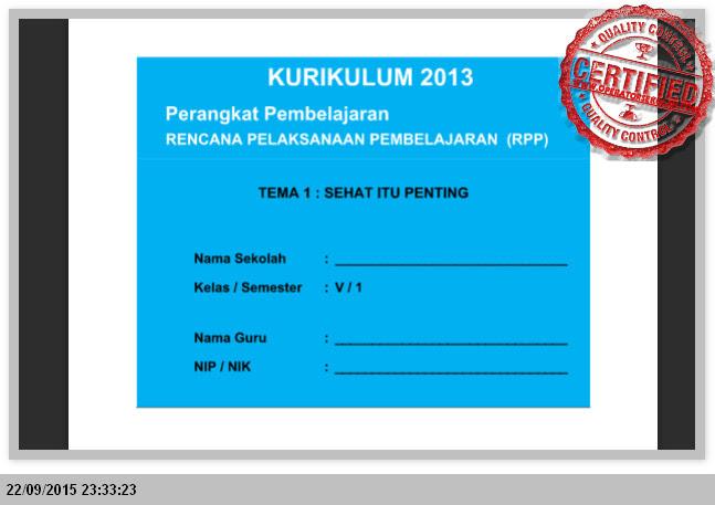 PERANGKAT PEMBELAJARAN KURIKULUM 2013 KELAS 5 SD SEMSTER 1 dan 2 LENGKAP (SEMUA TEMA)
