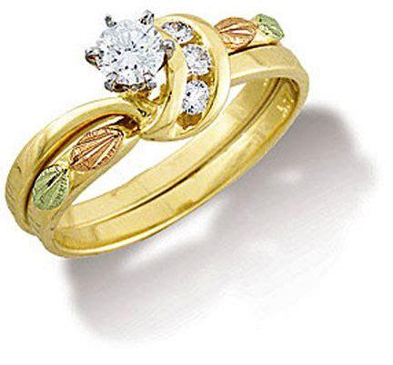 Landstroms Black Hills Gold Diamond Wedding Ring Set