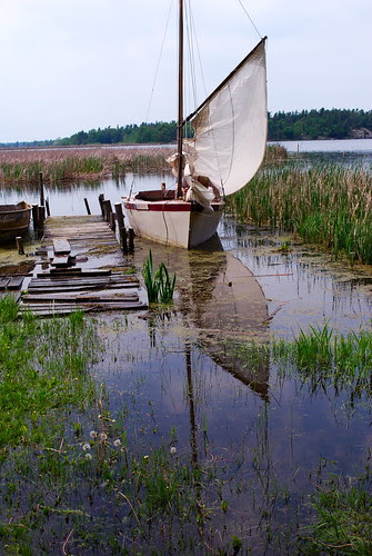Drying the mainsail