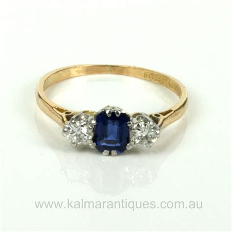 Buy 1930's sapphire and diamond engagement ring Sold Items