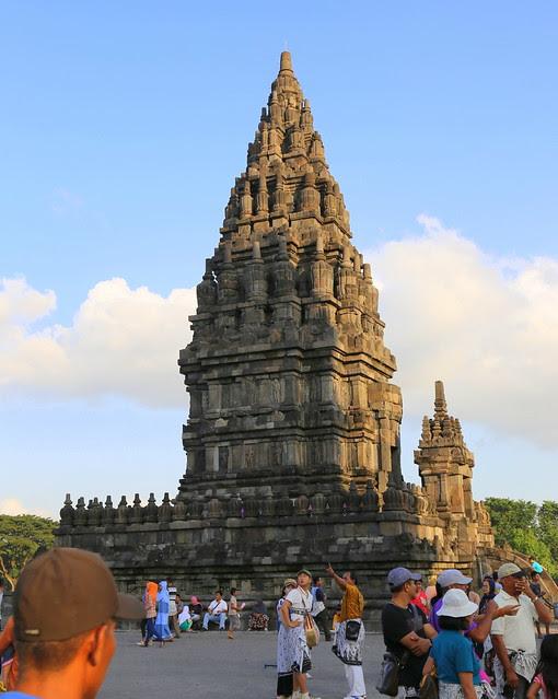 Prambanan Temple at sunset