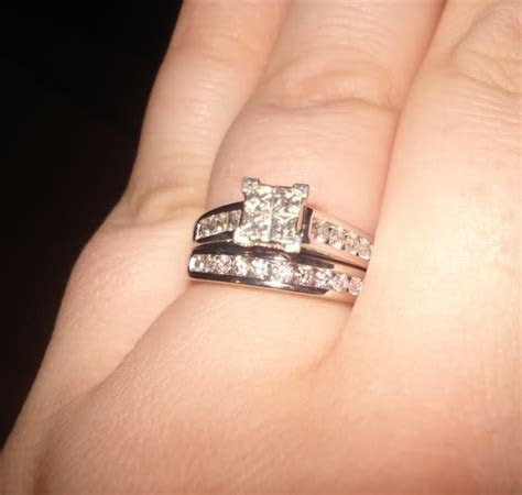 Engagement Ring And Wedding Band With Baguette 34