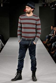 men wear jeans tucked  boots mens fashion