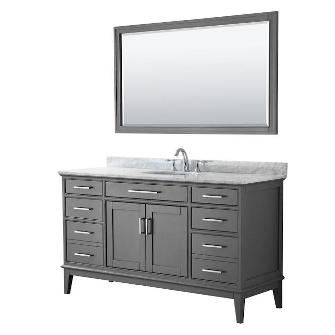 60 Inch Bathroom Vanity Top Single Sink White