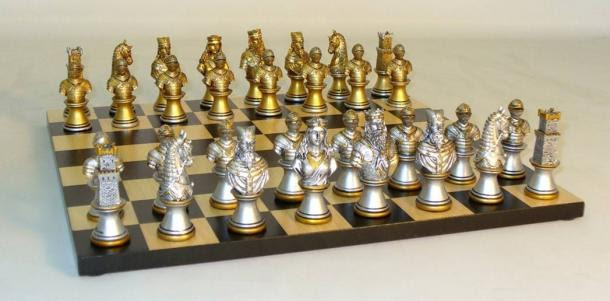 The gold and silver chess board of Gwenddolau could play by itself