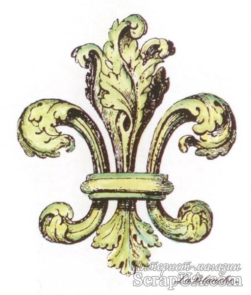 Акриловый штамп La Blanche - Fleur de Lis Stamp - ScrapUA.com