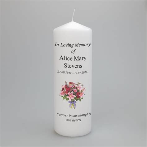 A beautiful personalised memorial candle   two sizes