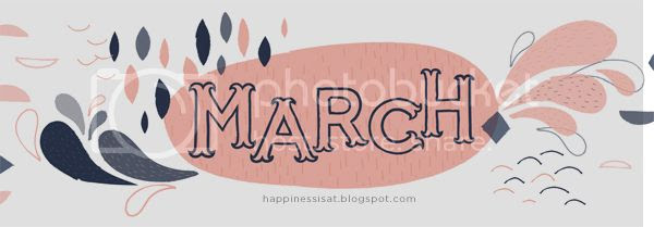 Happiness is... free custom designed and illustrated March 2014 calendar and planner printable!