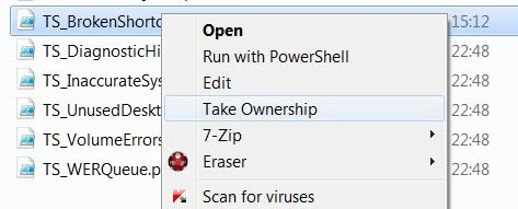 windows 10 how to add a take ownership option