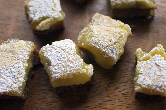 ginger-lemon bars I