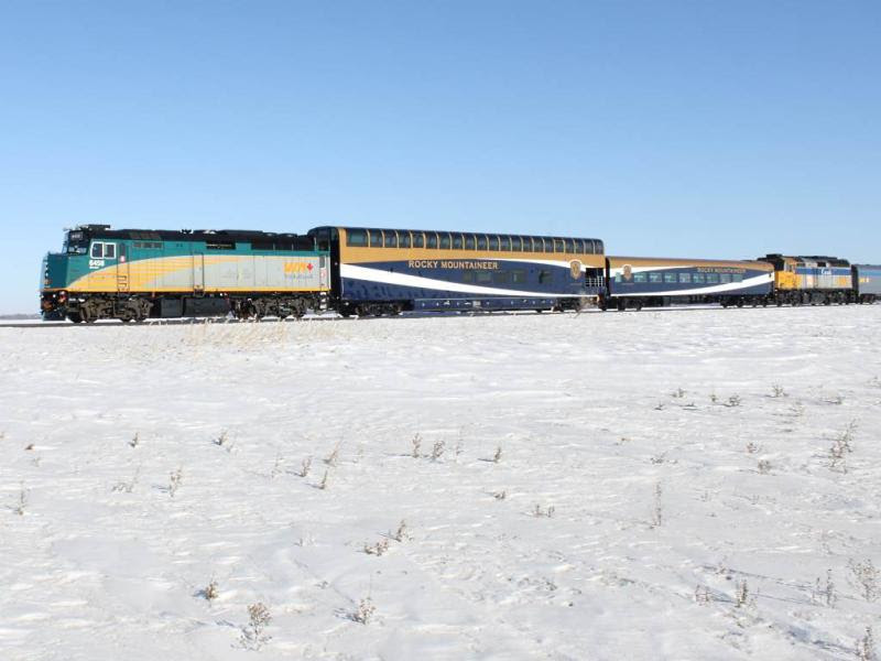 VIA 6458 and Rocky Mountaineer cars