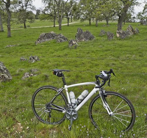 bike and rocks