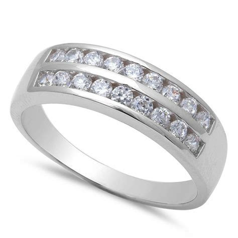 Men's Round Cubic Zirconia Engagement .925 Sterling Silver