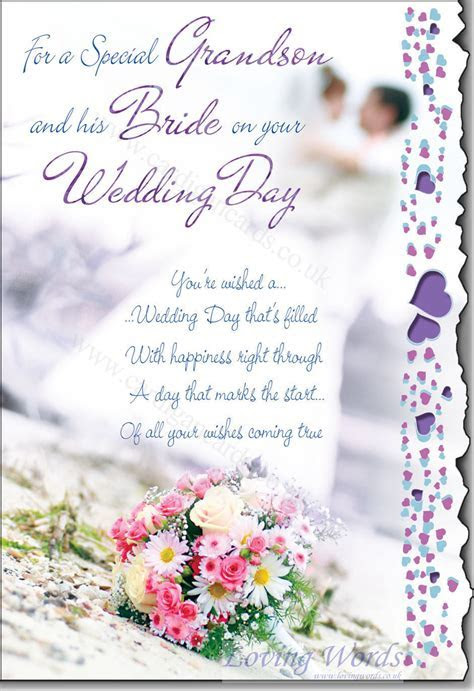 Wedding Day Grandson & Bride   Greeting Cards by Loving Words