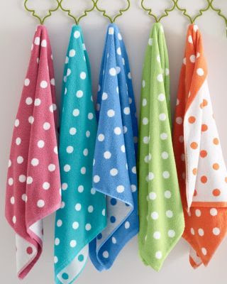 Dot to Dot Polka Dot Towels - Garnet Hill