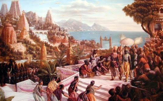 Lord Krishna Enters Dwarka