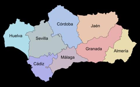 Provincias de Andalucía 2007
