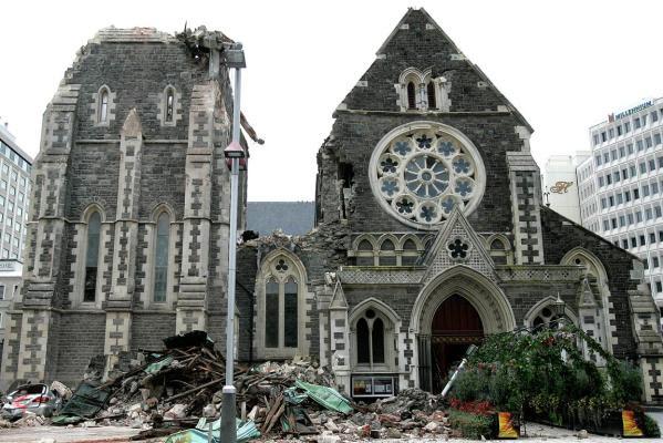 写真:クライストチャーチ地震