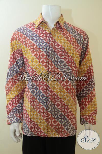 Pakaian Batik Modern Model Lengan Panjang Untuk Anak Muda