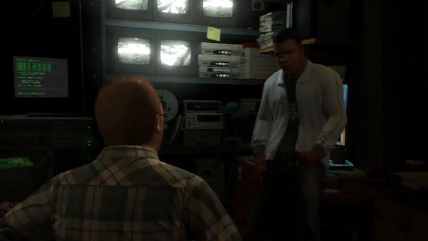 Franklin, Michael e Trevor armam uma emboscada para o FIB com a ajuda de Lester (Foto: IGN / Reprodução)