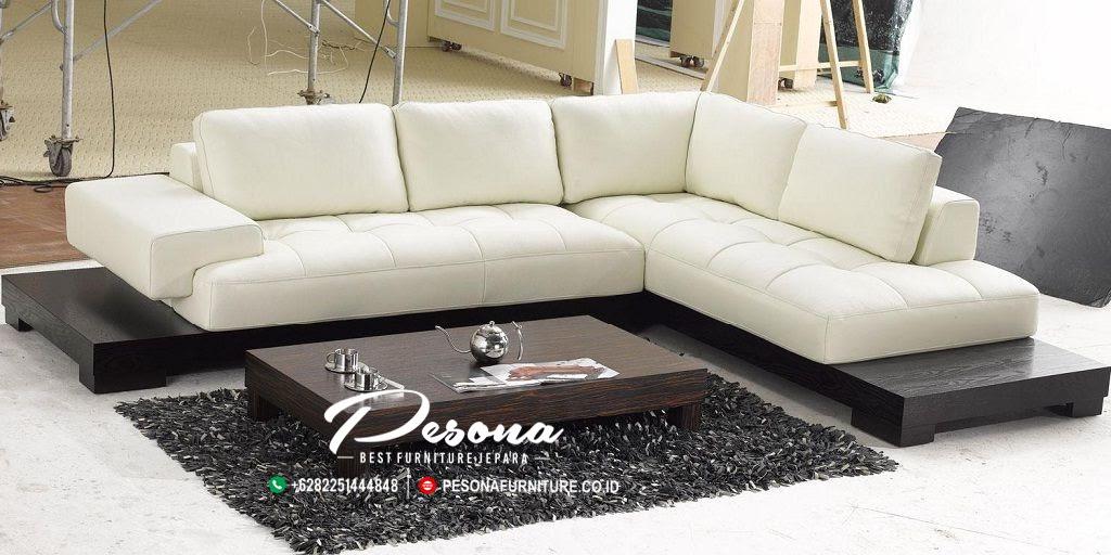 Kursi Sofa Tamu Sudut L Bentuk Minimalis Modern Sofa Tamu Minimalis Pesona Furniture