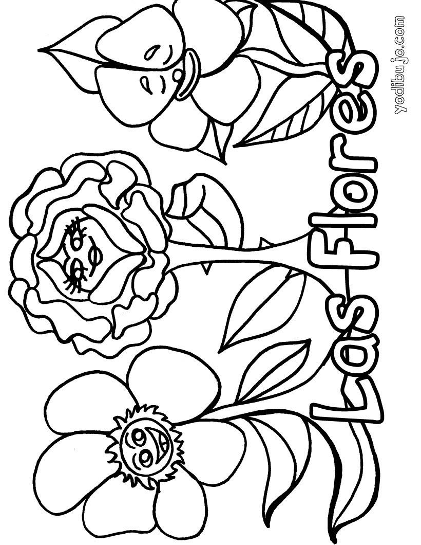 Dibujos De Flores Para Pintar Dibujos Para Colorear Imprime