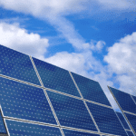 solar power panel Clouds