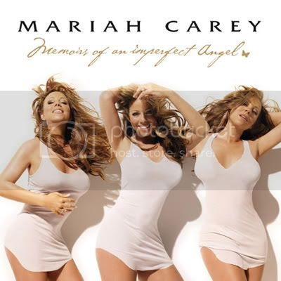 Now presenting: Mariah and 6 irregular shaped titties on her 'Memoirs of an imperfect angel' album cover