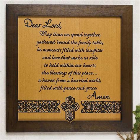 Meal Blessing Plaque: