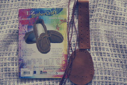ez leathercraft moccasins diy