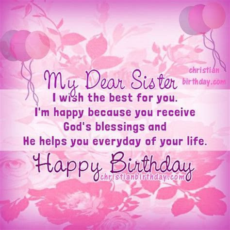 My Dear Sister, Happy Birthday Pictures, Photos, and