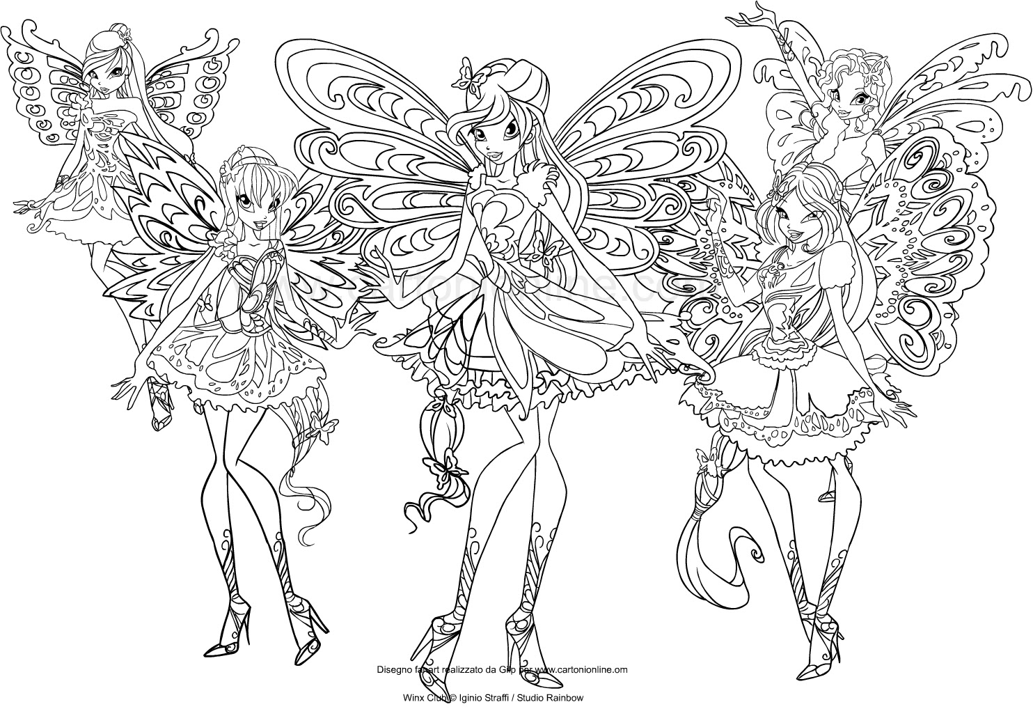 Amazing Drawing The Winx Club Butterflix Coloring Page