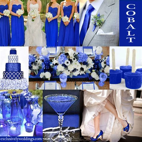 DIY Centerpices Cobalt Royal blue wedding color Decor