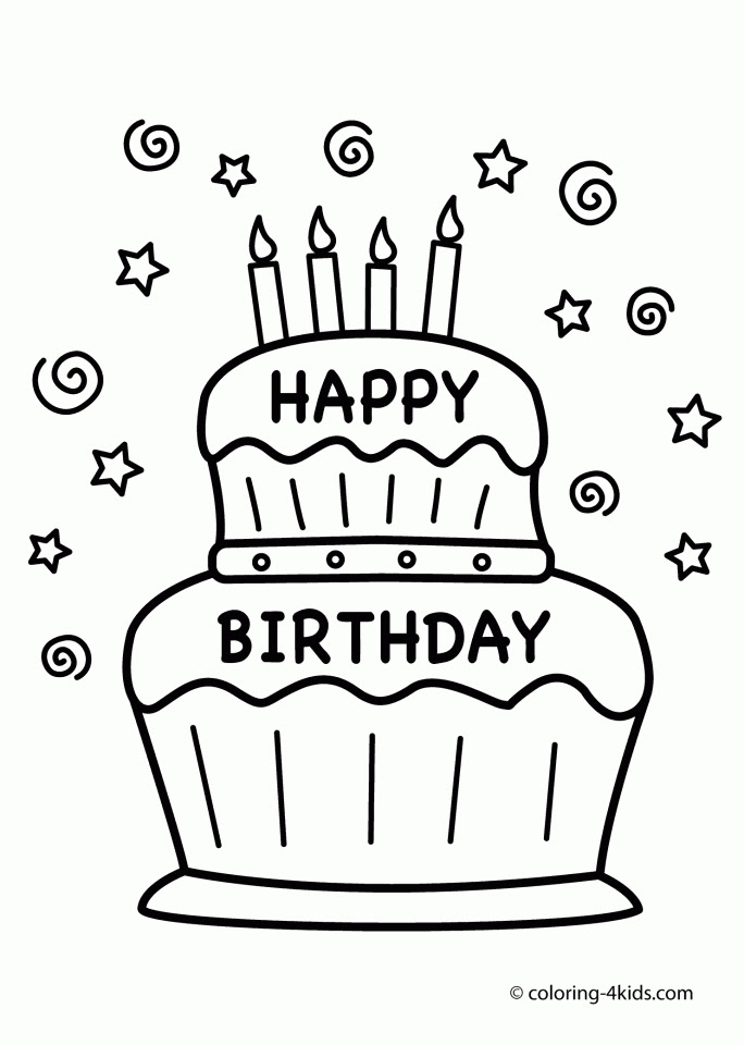 Get This Happy Birthday Coloring Pages Free Printable 41750