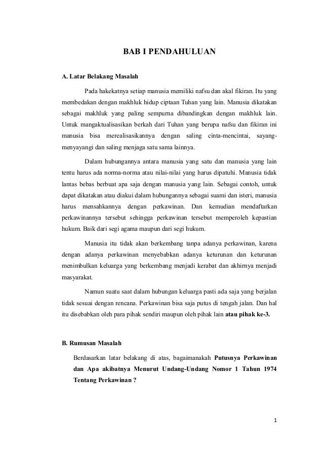Contoh Surat Pernyataan Cerai Istri Kepada Suami