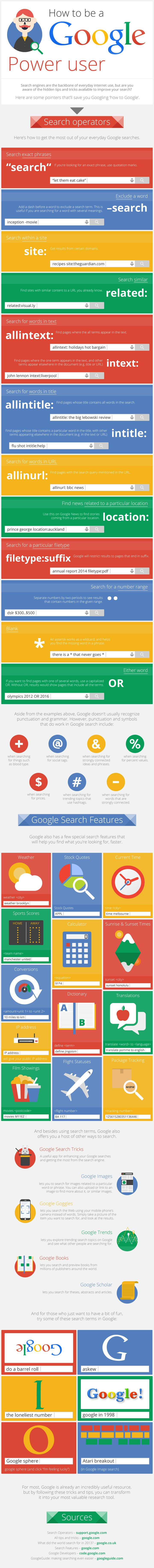 Infographic: How to be a Google Power user #infographic