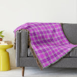 Pink and Purple Tartan Plaid Throw Blanket