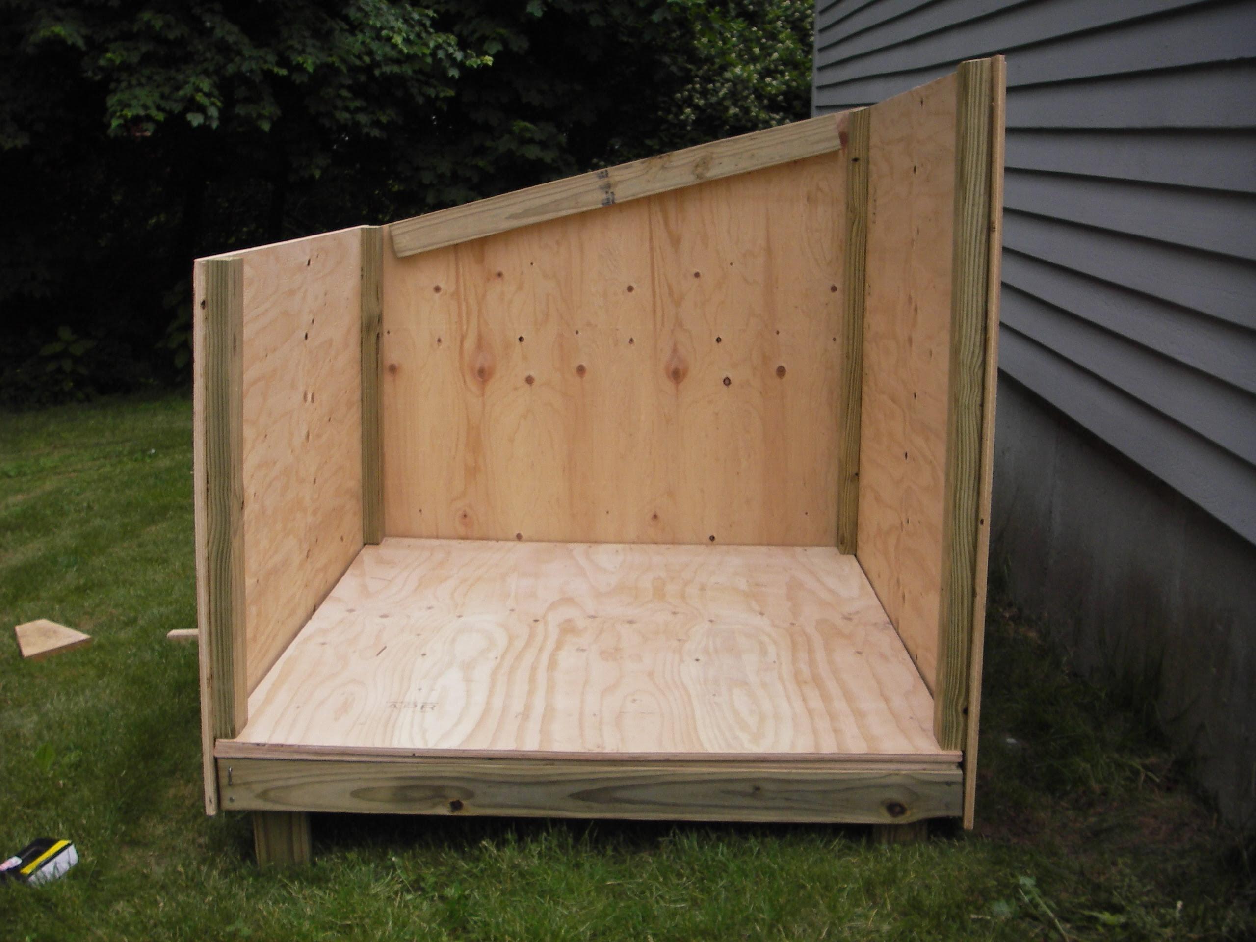 Shed Roof Dog House Plans Portable Garden Shed - Dog-house-frame
