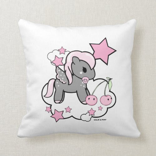 Baby Girl Pony | Throw Pillow Dolce & Pony