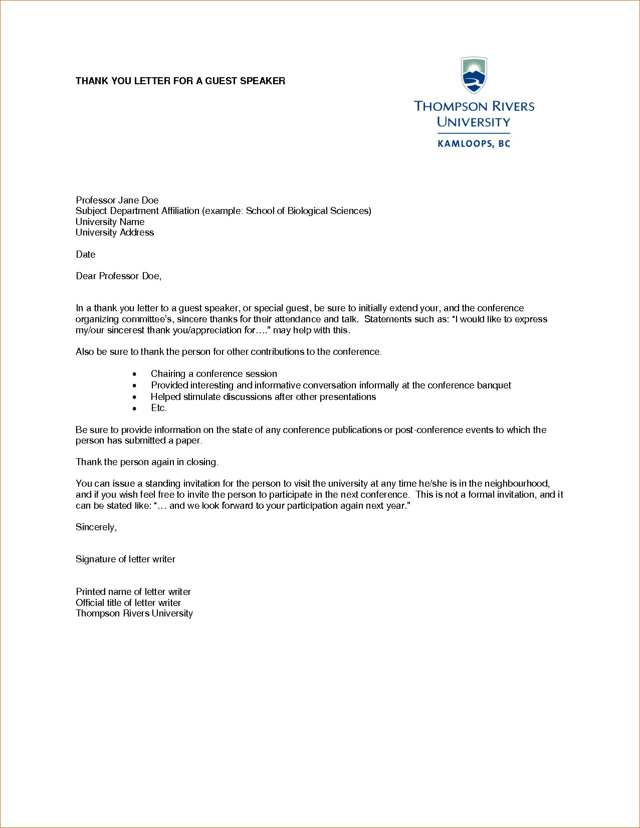 Thank You Letter For Guest Speaker from lh5.googleusercontent.com