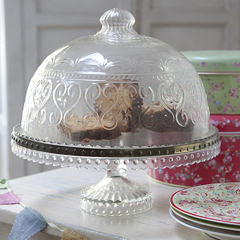 Cake Stand And Matching Dome
