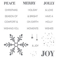 Holly Jolly Greetings Clear-Mount Stamp Set by Stampin' Up!