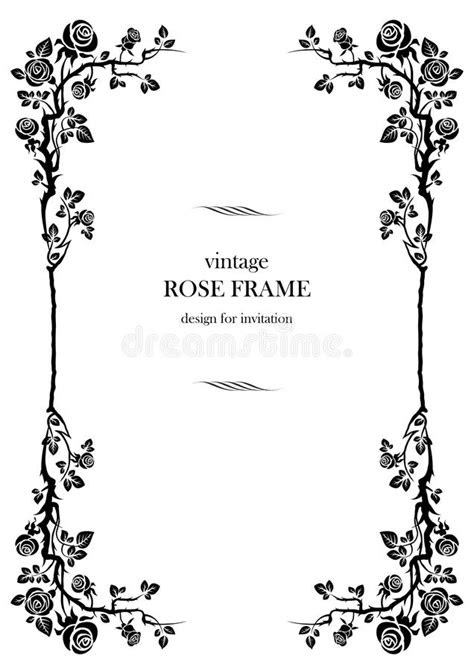 Black rose frame stock vector. Illustration of fantasy