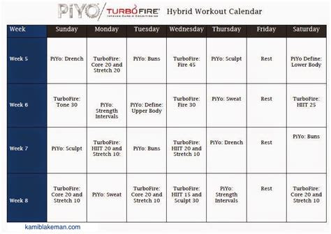 turbo fire advanced workout schedule blog dandk