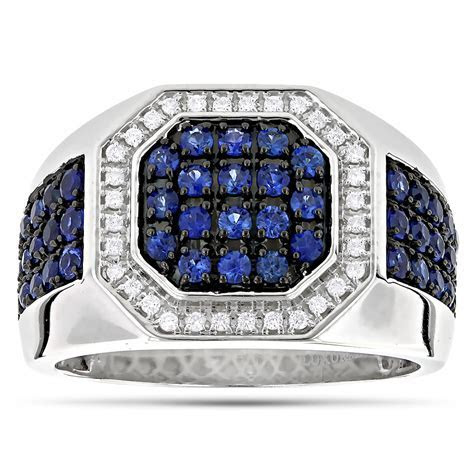 Mens Sapphire And Diamond Rings   Wedding, Promise