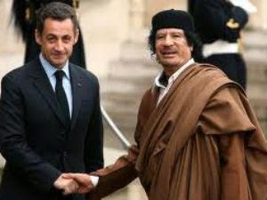 Sarkozi Gadaffi