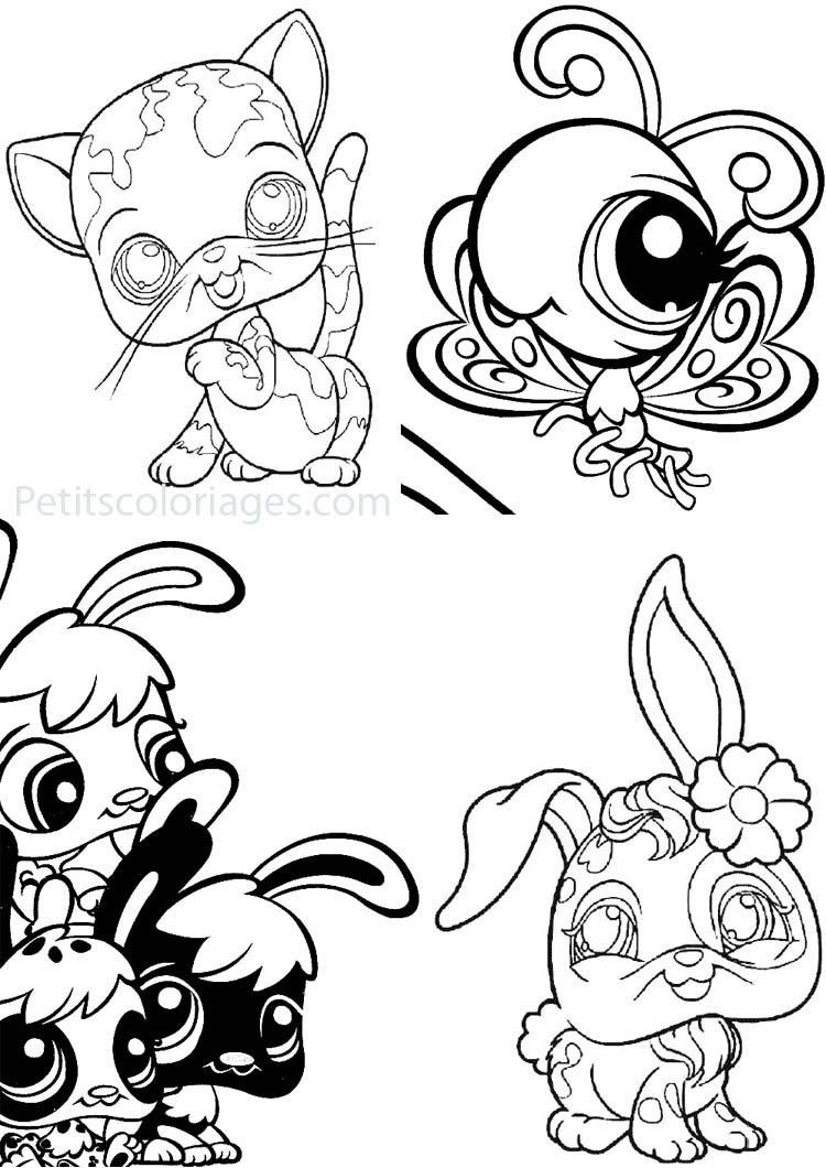 Inspiration coloriage de petshop chat imprimer et obtenir une coloriage gratuit ici - Petshop papillon ...